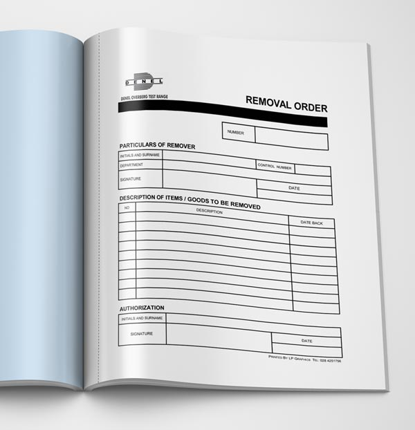 Removal Order Book