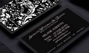 Aniston weddings Business Card