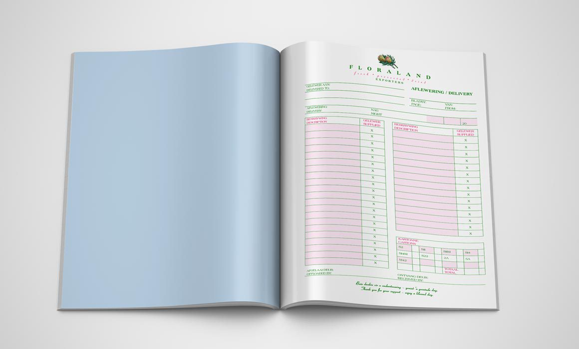 Floraland Delivery Book